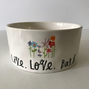 Rae Dunn Live Love Bark Dog Bowl New